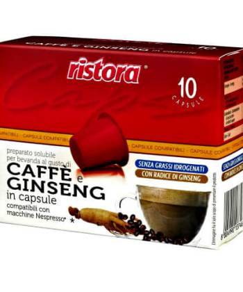 10 Capsule Ristora Caffè e Ginseng Compatibili con Nespresso