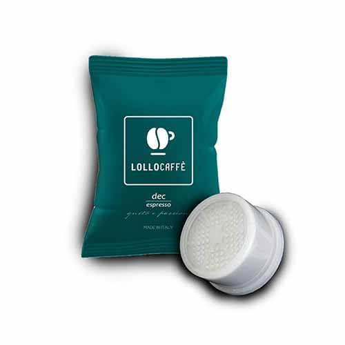 100 Capsule Lollo Caffè Decaffeinato Compatibili con Lavazza Espresso Point