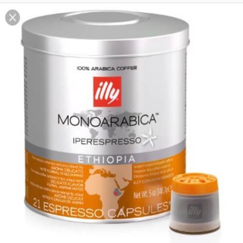 63 Capsule Illy Iperespresso Monoarabica Ethiopia Compatibili con Illy