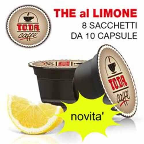 80 Capsule ToDa Caffè Gattopardo Tè al Limone Compatibili con Nescafé Dolce Gusto