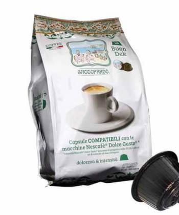 96 Capsule ToDa Caffè Gattopardo Buon Ricco Compatibili con Nescafé Dolce Gusto