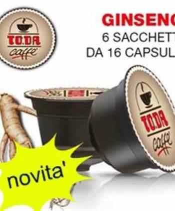 96 Capsule ToDa Caffè Gattopardo Caffè con Ginseng Compatibili con Nescafé Dolce Gusto