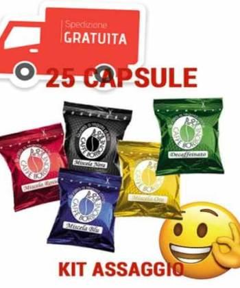 Kit Assaggio 25 Capsule Borbone Compatibili con Lavazza Espresso Point