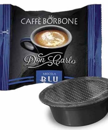 100 Capsule Don Carlo Miscela Blu Compatibili con Lavazza A Modo Mio