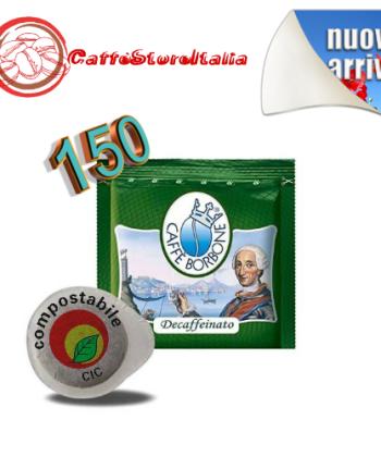 150 Cialde Borbone Miscela Verde Decaffeinato