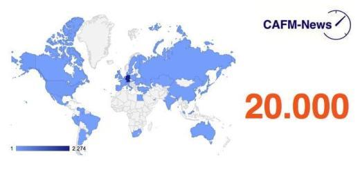 Die CAFM-News haben diese Woche erstmals mehr als 20.000 Seitenaufrufe verzeichnet