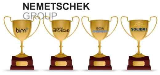 Vier Unternehmen der Nemetschek Group haben jetzt in Frankreich jeweils erste Plätze bei einem BIM-Award belegt