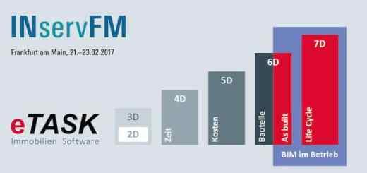 Das Thema BIM nimmt beim Messeauftritt von eTask auf der INservFM 2017 großen Raum ein