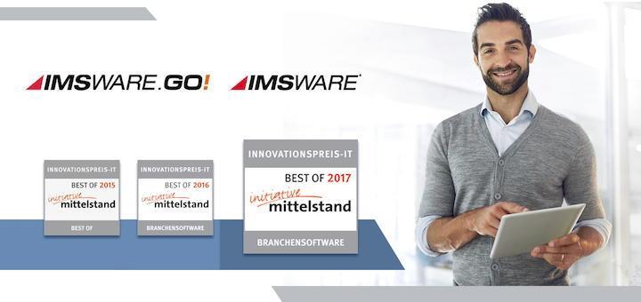 ...zum Dritten: Im Rahmen des Innovationpreis-IT hat IMS erneut eine Best-of Auszeichnung erhalten