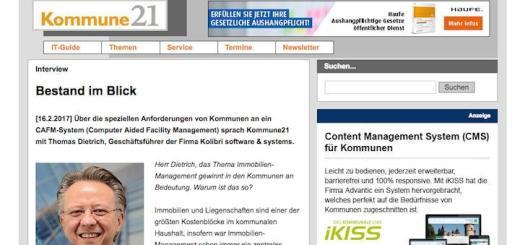 kommune 21 interview thomas dietrich kolibri software cafm in kommunen