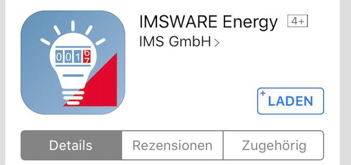 Die neue App IMSWARE.ENERGY ist unter anderem im App-Shop von Apples iOS zu finden