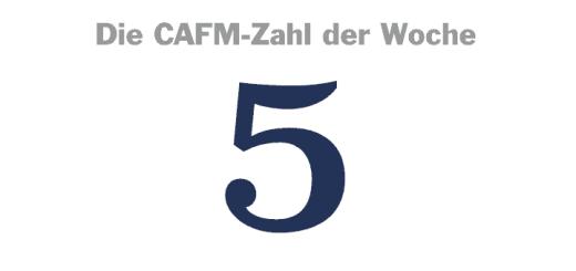 Die CAFM-Zahl der Woche ist die 5 – für die fünf Meinungsführer im Fokus Instandhaltung