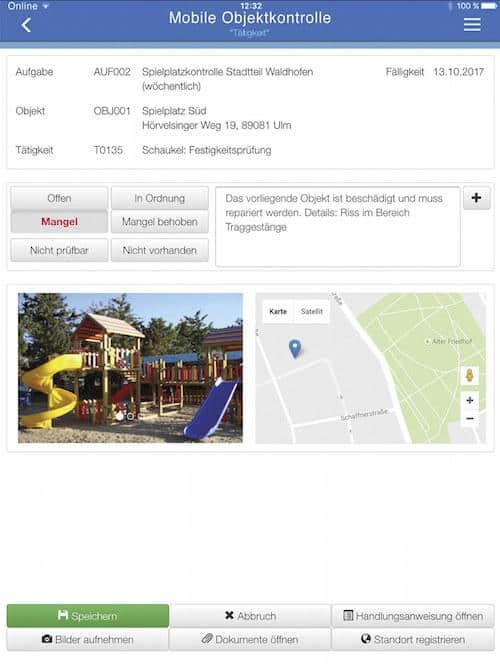 Mobile Objektkontrolle – kurz MOK – ist die neueste App von Axxians Infoma