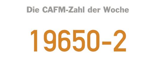 Die CAFM-Zahl der Woche ist die 19650-2 für den zweiten Teil der BIM-DIN