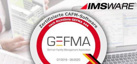 IMSWARE ist zum 5. Mal GEFMA 444 zertifiziert - auch im jüngsten Katalog A15 BIM-Datenverarbeitung