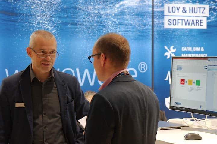 Loy & Hutz präsentierten sich bei Ihrer Premiere auf der BIM World Munich 2018 mit einem bereits realisierten BIM- und CAFM-Projekt