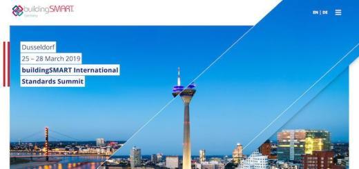 Vom 24. bis 29. März treffen sich die Mitglieder von buildingSMART zum International Standards Summit und dem anschließenden Anwendertreffen in Düsseldorf
