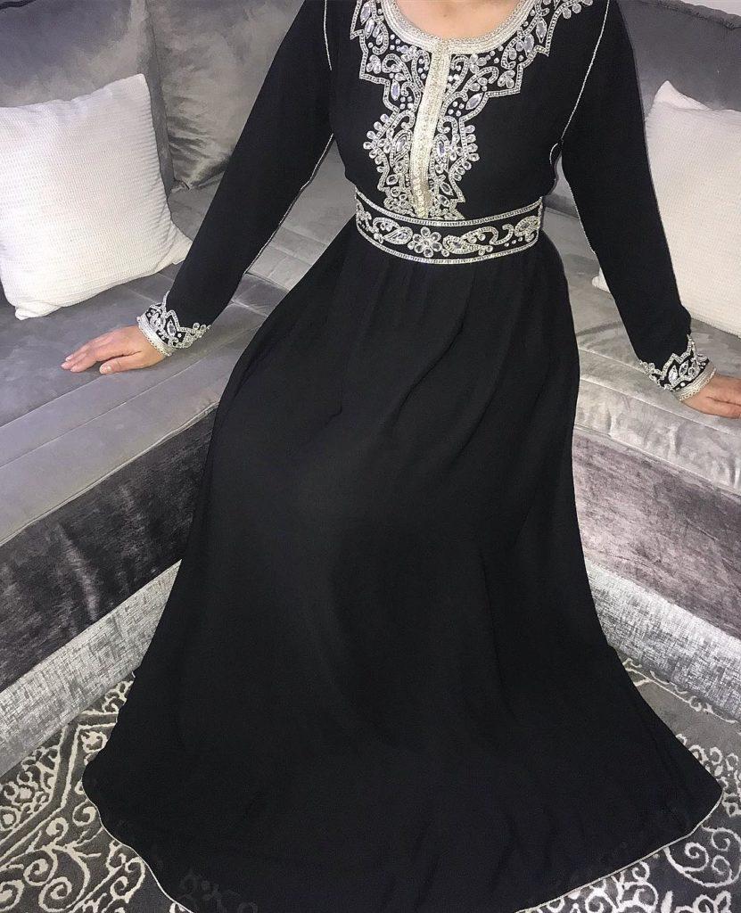 Robe caftan noire modèle 2019