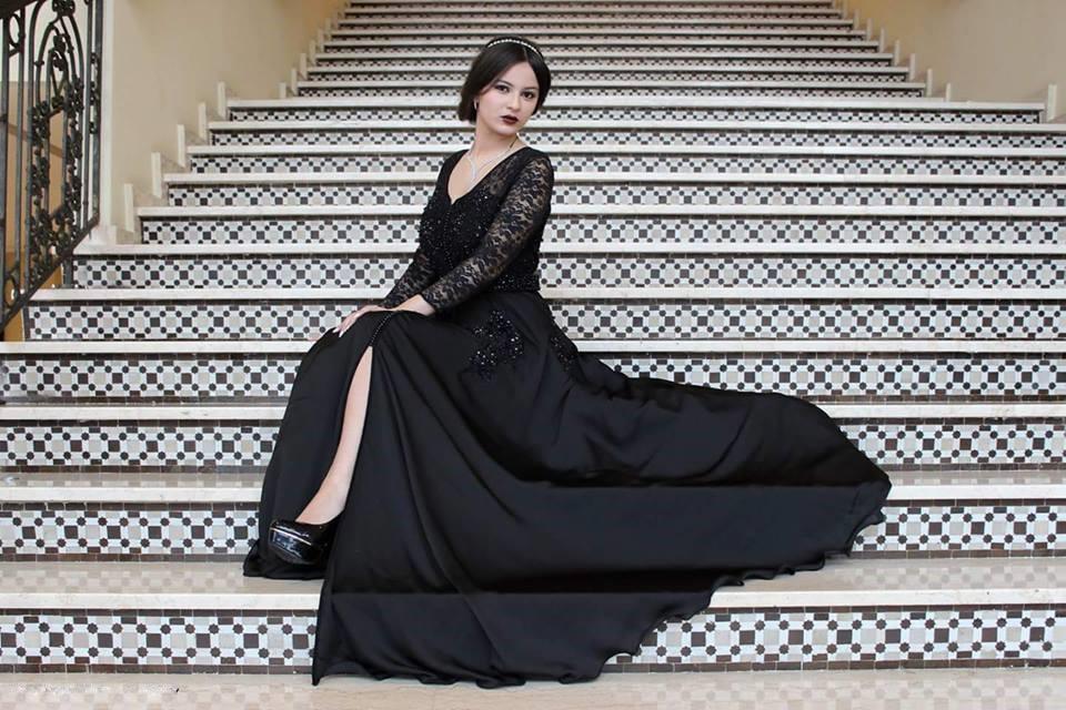 Robe de mariée noire design de luxe