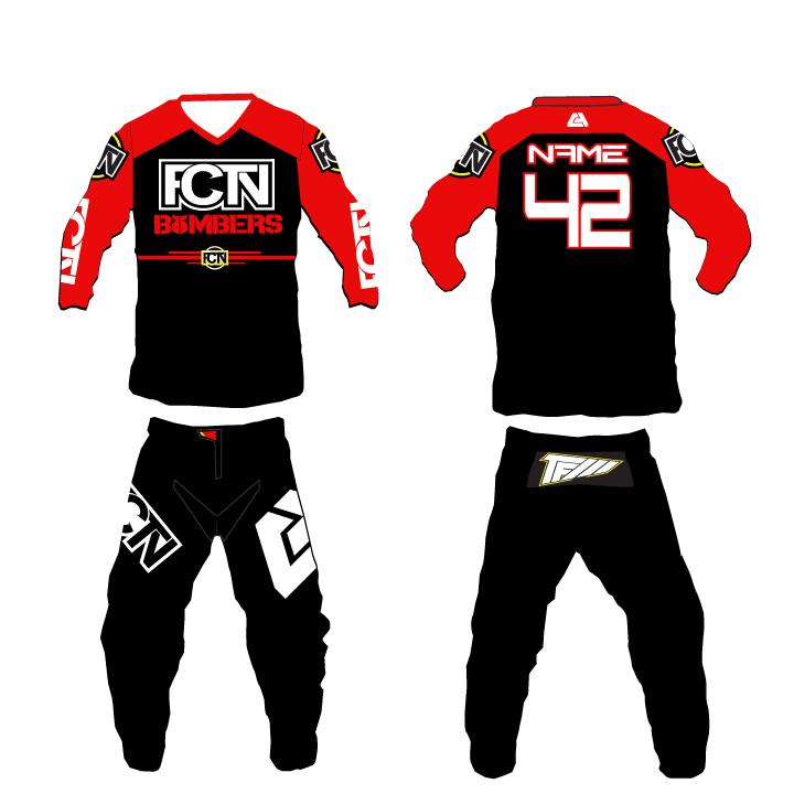 "Download FCTN - ""Red Bombers"" Motocross Gear Set | Custom Apparel Inc."