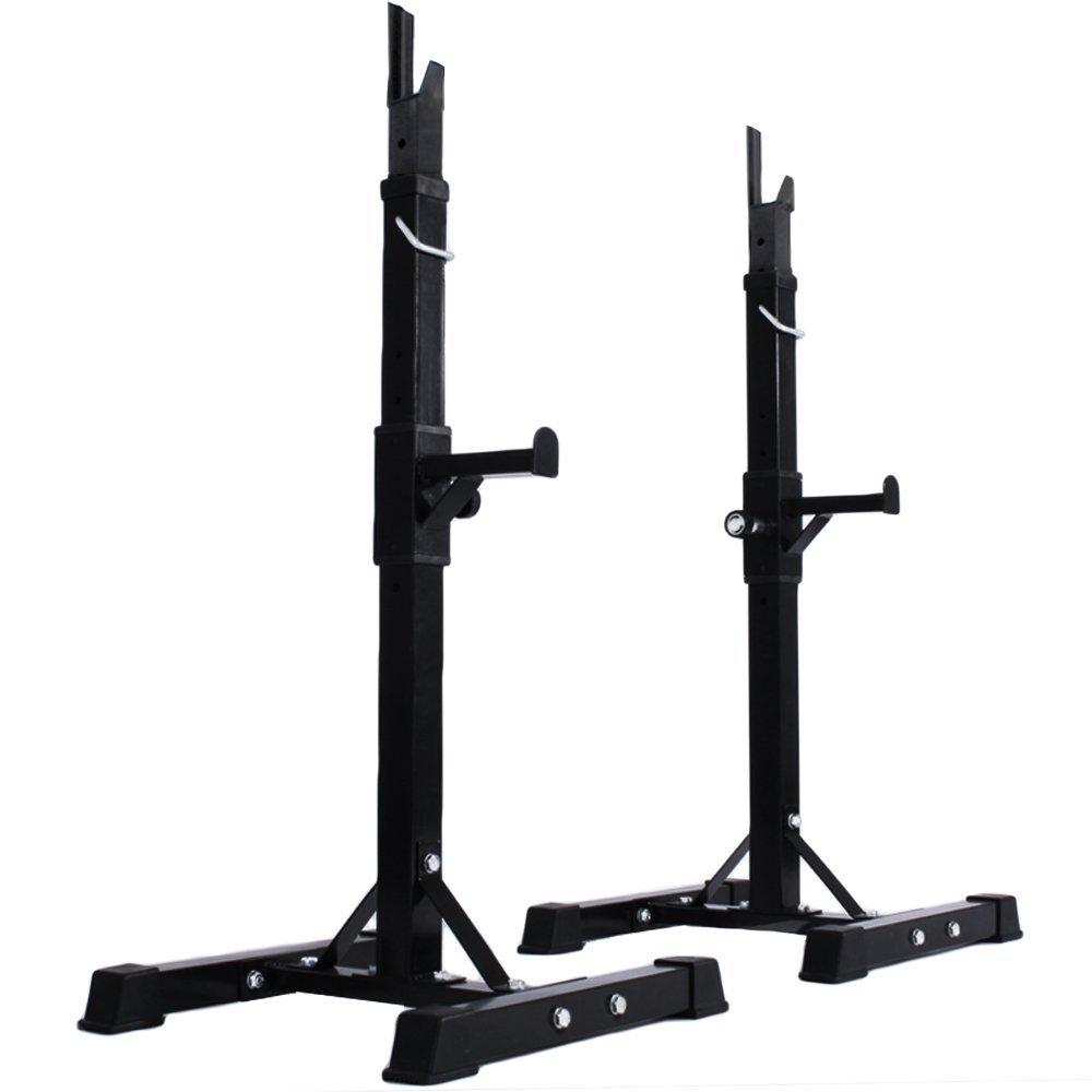 Physionics - Support pour Haltères Longs Réglable sur 12 Niveaux Charge max. 100 kg, l'accessoire de musculation dont vous avez besoin