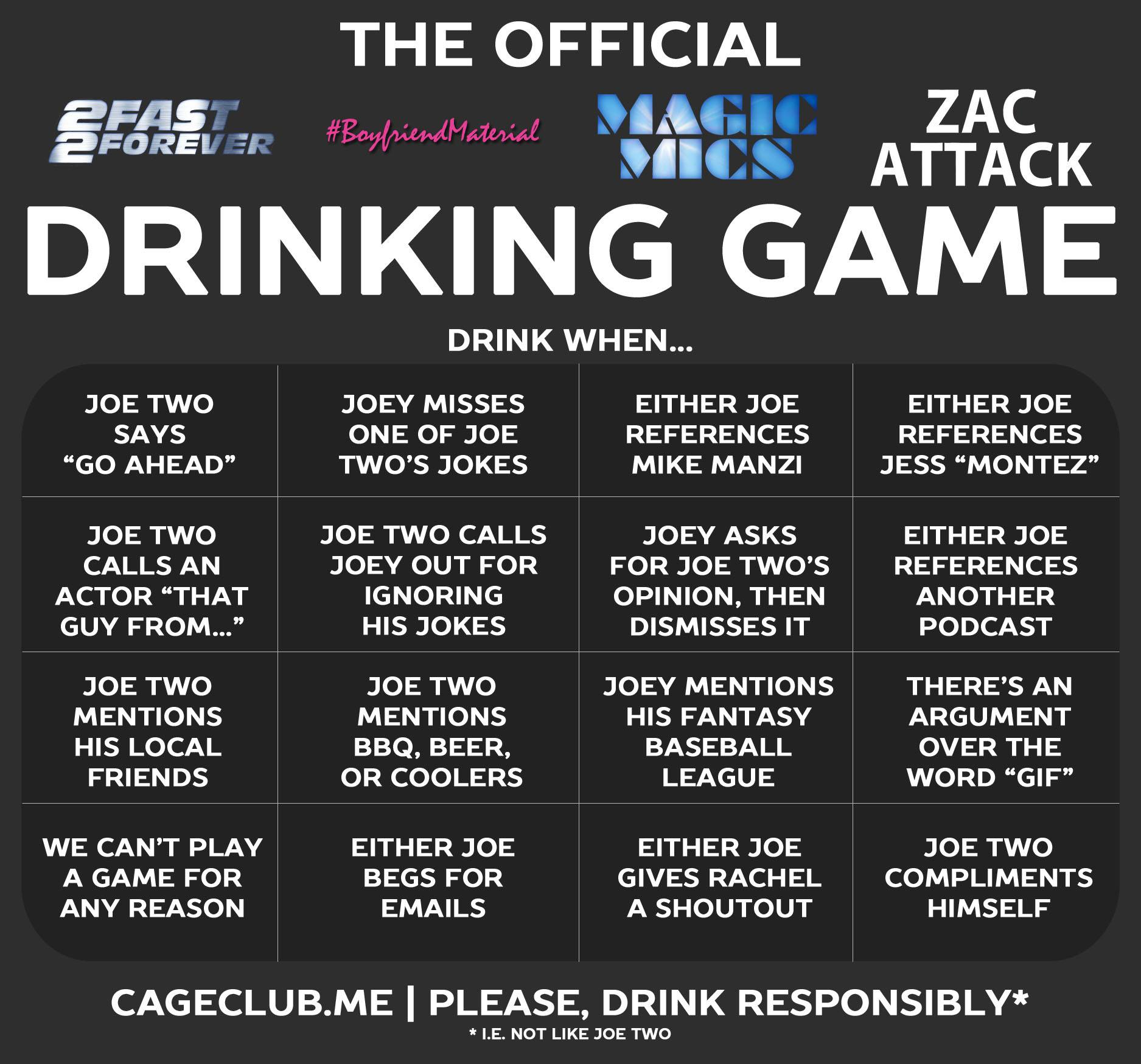 podcast drinking games the