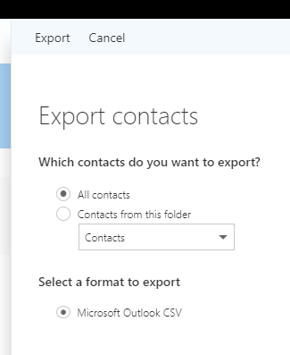 How to export contacts from Office 365 | Cage Data