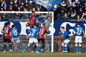 Serie A- Il Cagliari, stavolta almeno non ha perso, 2-2 col Brescia