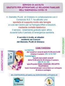 Oristano, coronavirus sportello telefonico per le famiglie