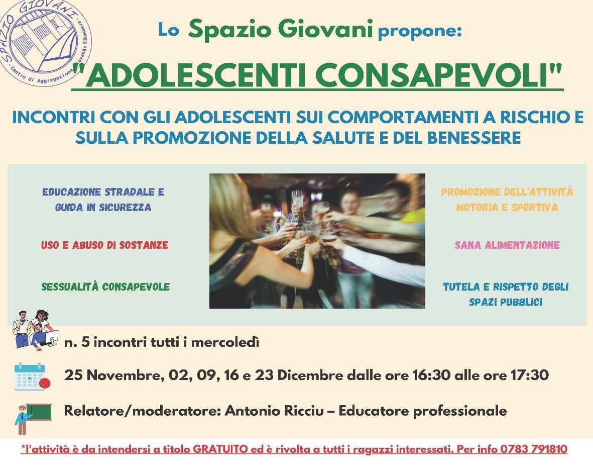 Oristano Allo Spazio Giovani Cinque Appuntamenti Su Comportamenti A Rischio Salute E Benessere Cagliari Post