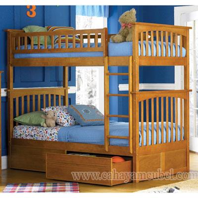 Tempat Tidur Tingkat Minimalis Jati