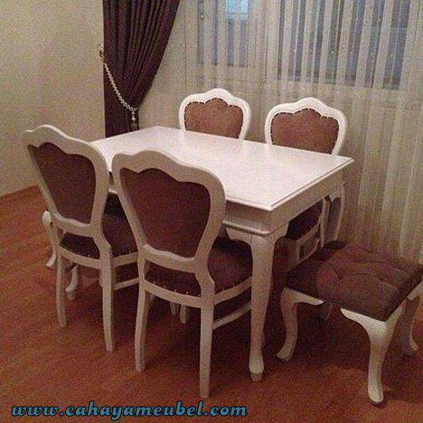 Set Kursi Makan Minimalis Warna Putih Duco