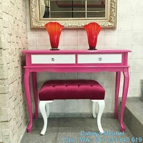 Meja Rias Anak Perempuan Pink