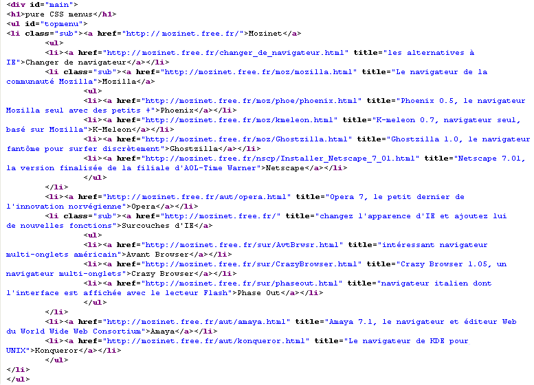 Convertir Du Code HTML En Code XML