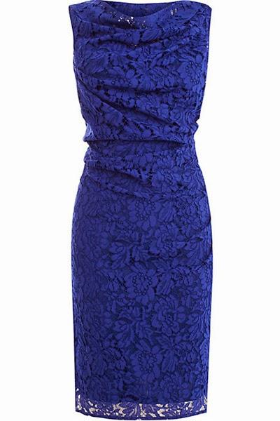rochie albastra dantela