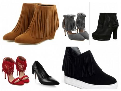 pantofi cu franjuri