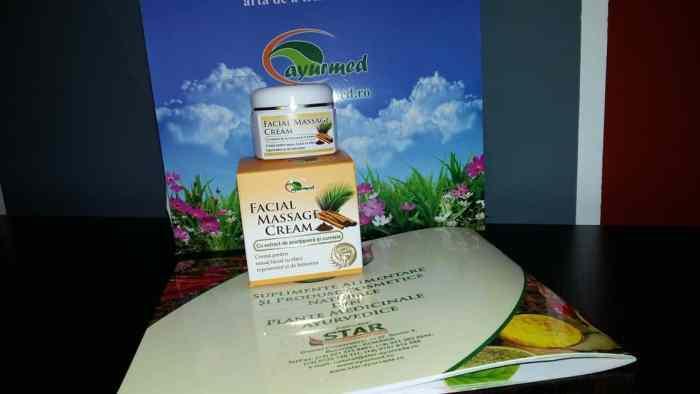 Crema pentru masaj facial cu extract de scorțișoară și curmale de la Ayurmed5