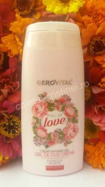 gel de dus crema full of love cu bujor de la Farmec