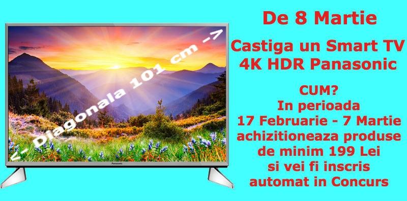 Concurs-8-Martie-câștiga un smart TV