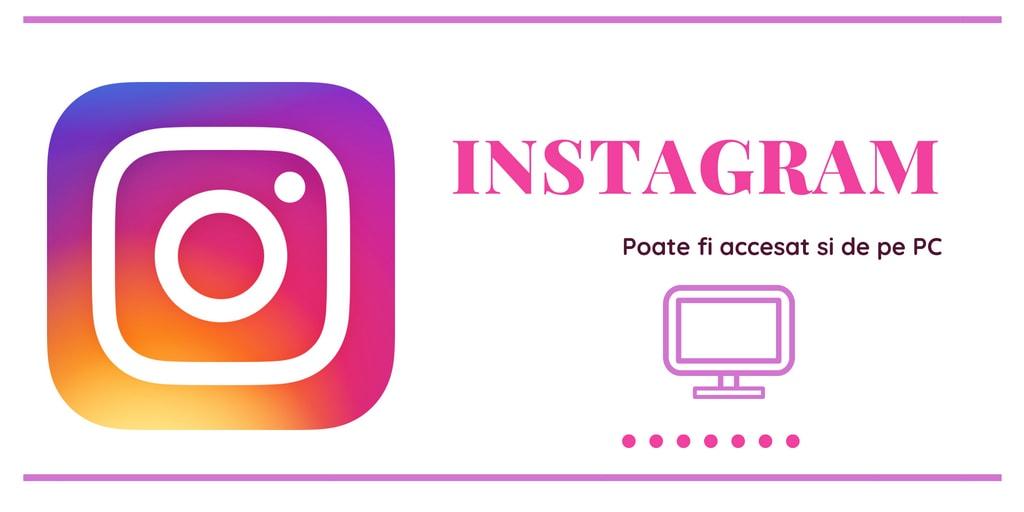 Instagram de pe PC