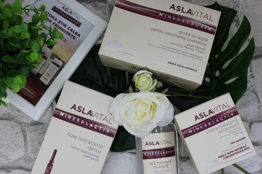 produse pe bază de argilă gama Aslavital Mineralactiv de la Farmec