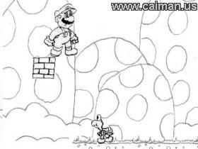 Caiman free games: Super Mario Sketch by Yoshimaster
