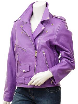 women s purple leather
