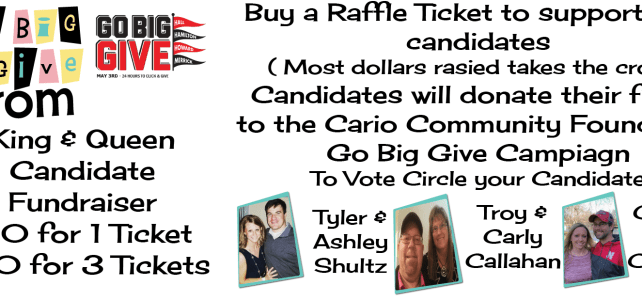 Buy Raffle Ticket and Crown your Go Big Give Prom King and Queen #GoBigGive #GoBigGiveCairo