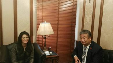 وزيرة السياحة والملحق الثقافي الصينى