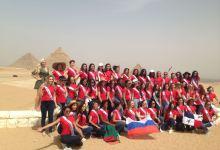 ملكات جمال العالم في منطقة أهرام الجيزة