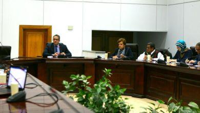 وزير الآثار ومديري المعاهد الأجنبية