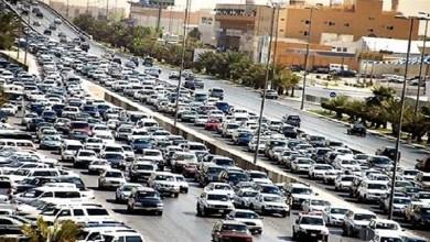 كثافات مرورية متوسطة بمحاور وميادين القاهرة