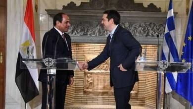الرئيس السيسي مع رئيس وزراء اليونان