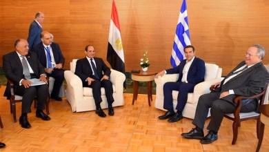 الرئيس السيسي ورئيس وزراء اليونان